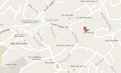 Plan d'accès au Riad Fès