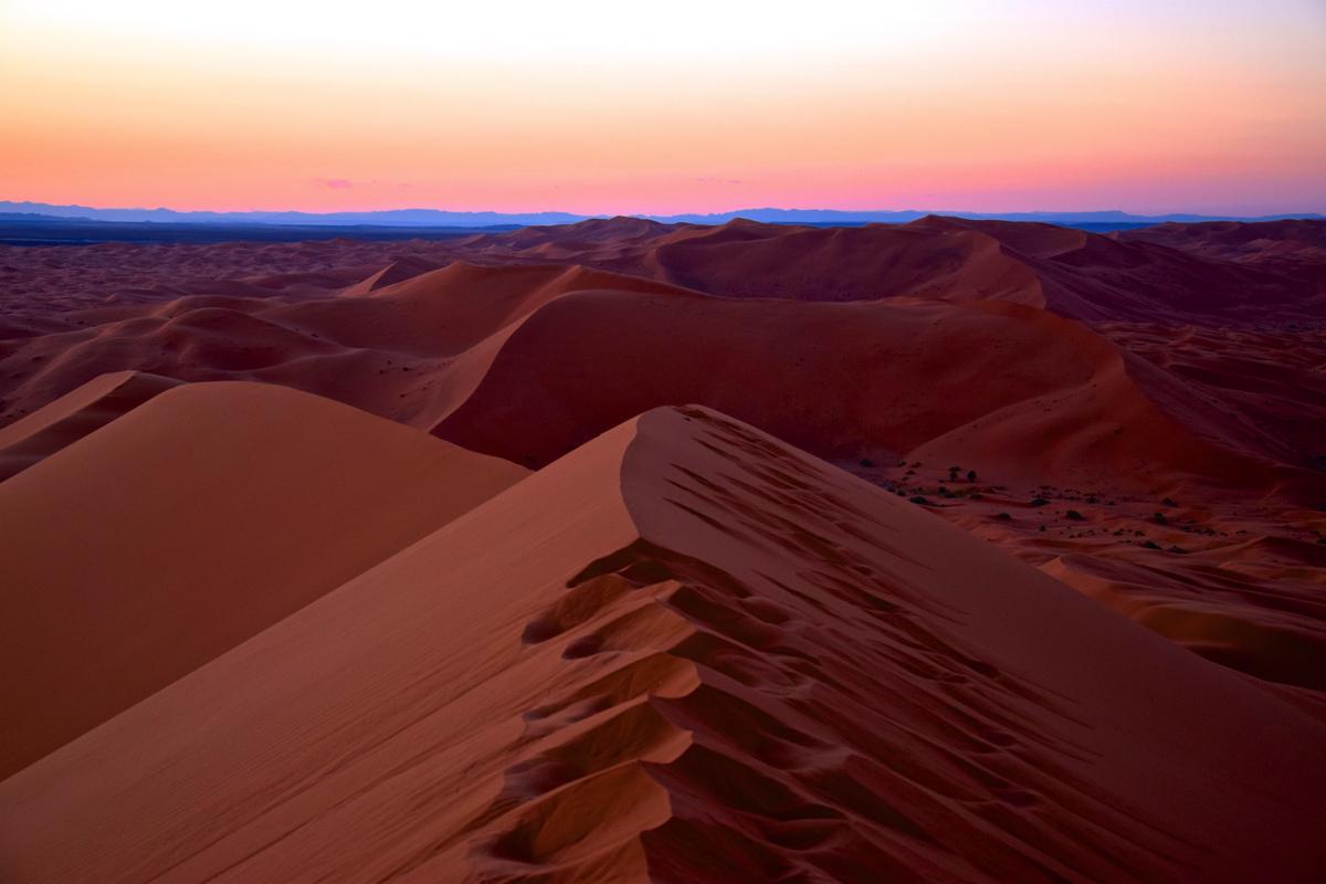 Dunes de Merzouga au Maroc