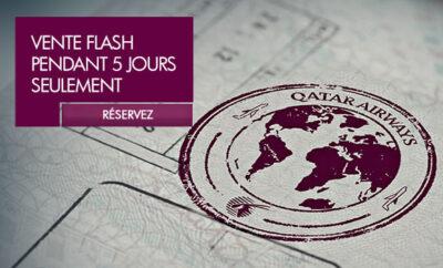Vente Flash Qatar Airways