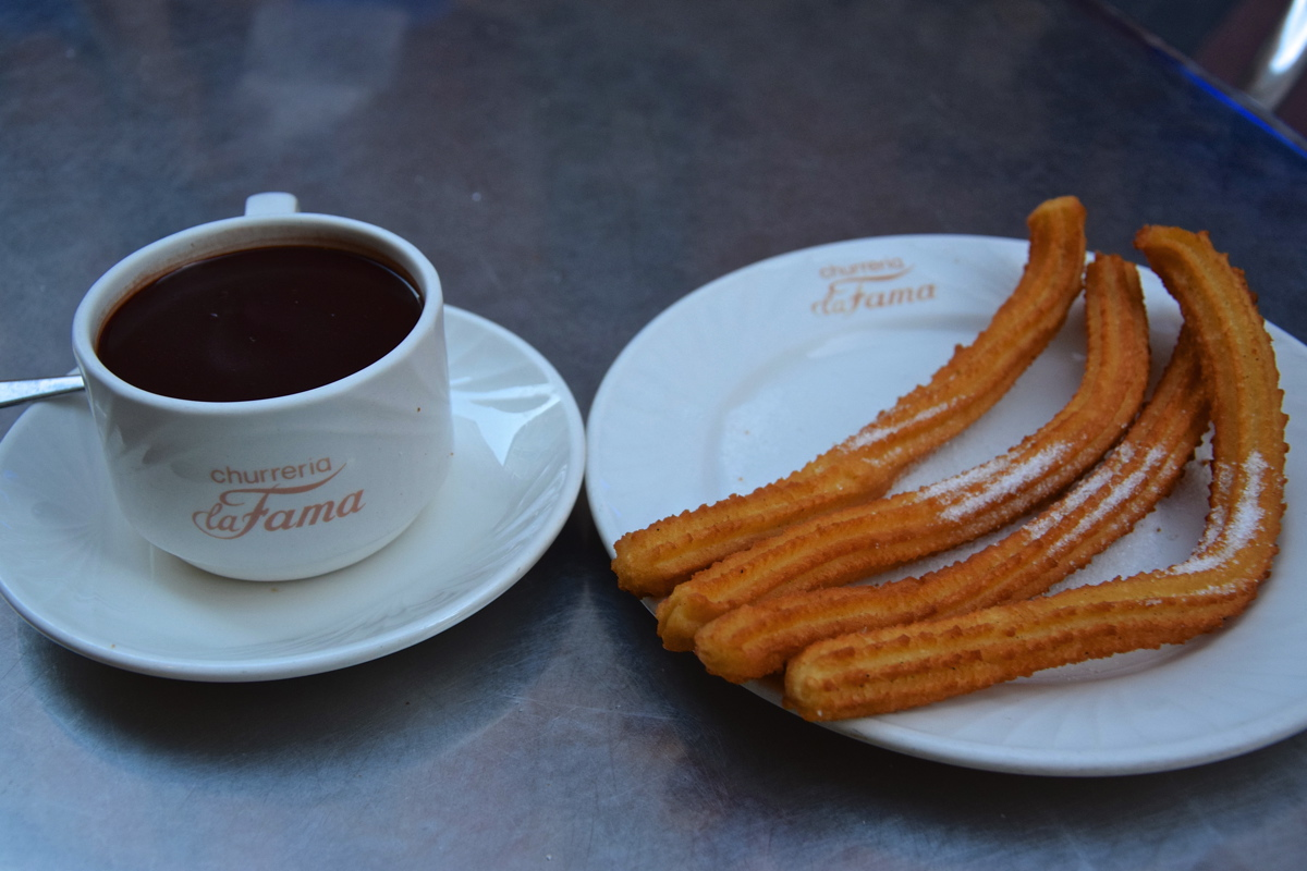 Churros y chocolate à Saragosse