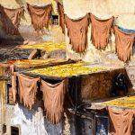 Séchage au soleil aux tanneries Chouara