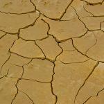Sol craquelé dans le désert des Bardenas