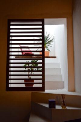 Terrasse intérieure d'une chambre