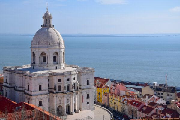 Vue depuis le monastère Saint Vincent de Fora à Lisbonne