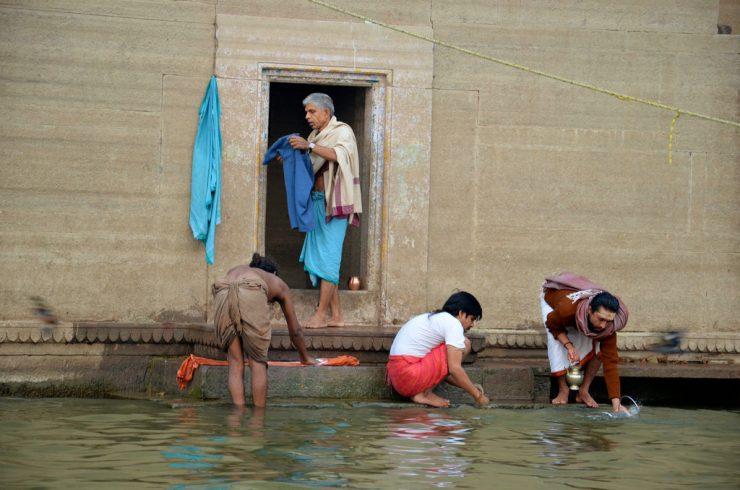 Rives du Gange à Varanasi