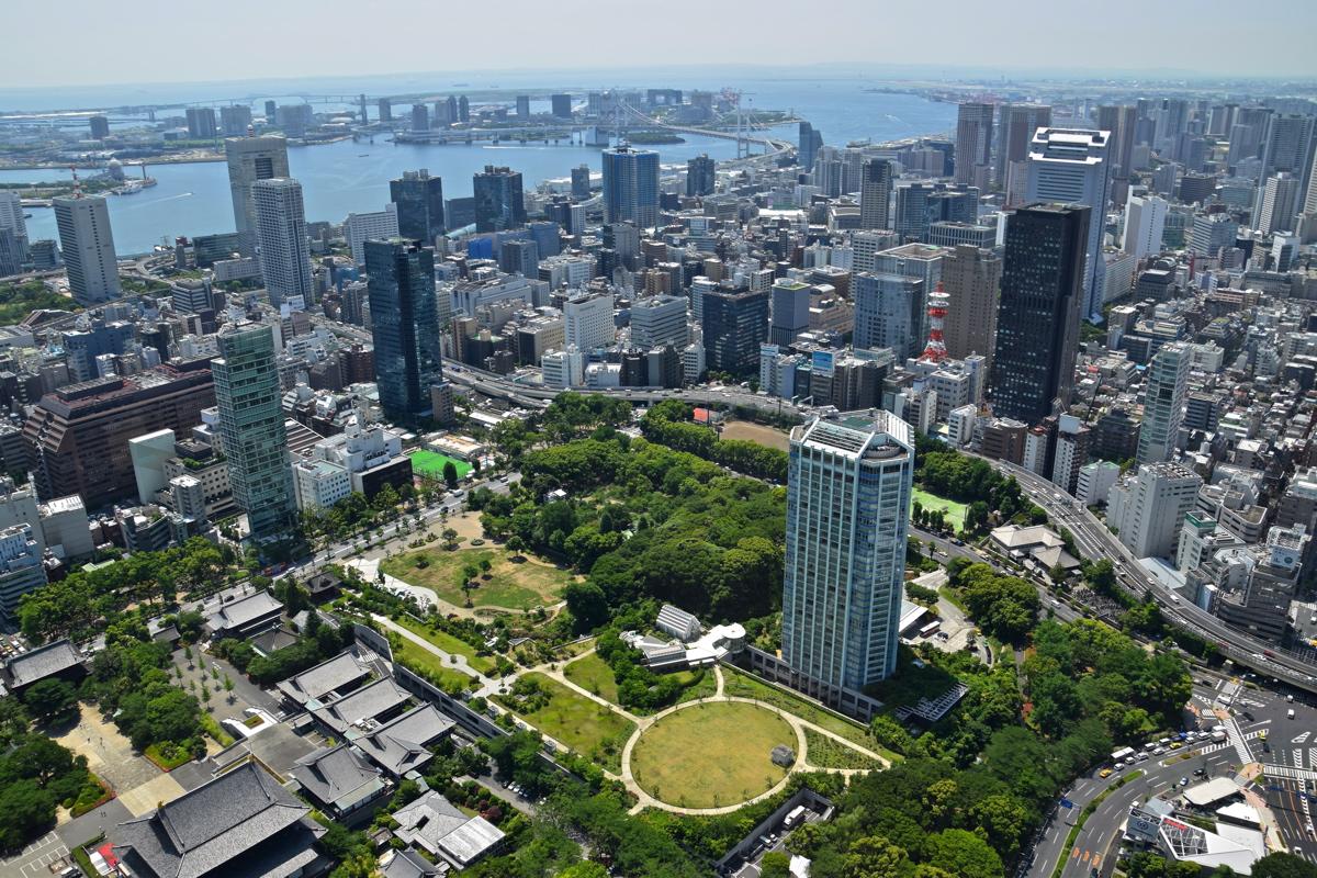 Panorama depuis le sommet de la Tokyo Tower