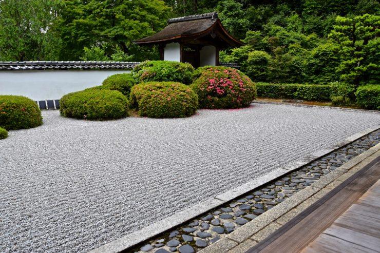 Jardin zen au temple Shodenji à Kyoto