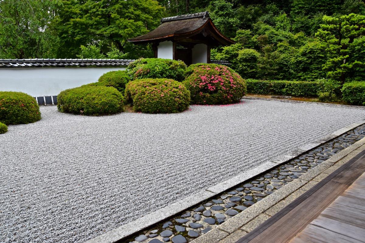 Les plafonds de sang kyoto for Entree jardin zen
