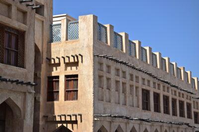 Architecture traditionnelle à Doha au Qatar
