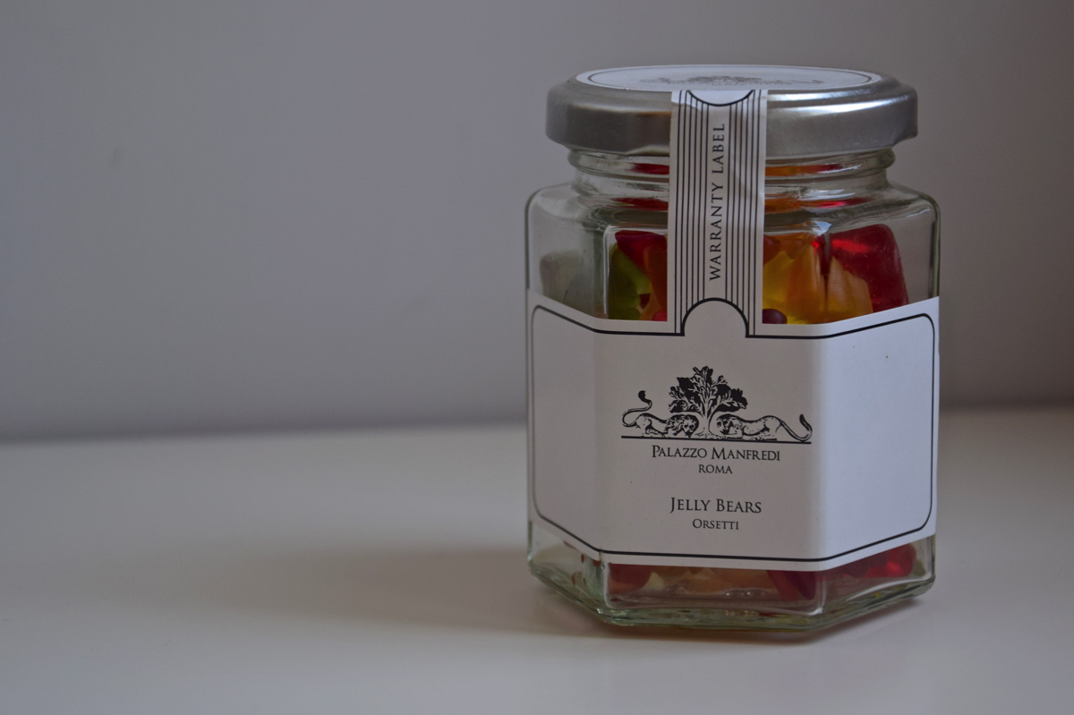 Bonbon du minibar du Palazzo Manfredi