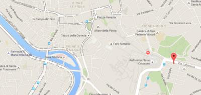Carte d'accès au Palazzo Manfredi