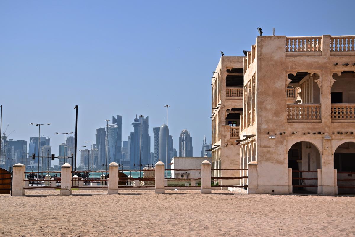 Contraste modernité & tradition à Doha au Qatar