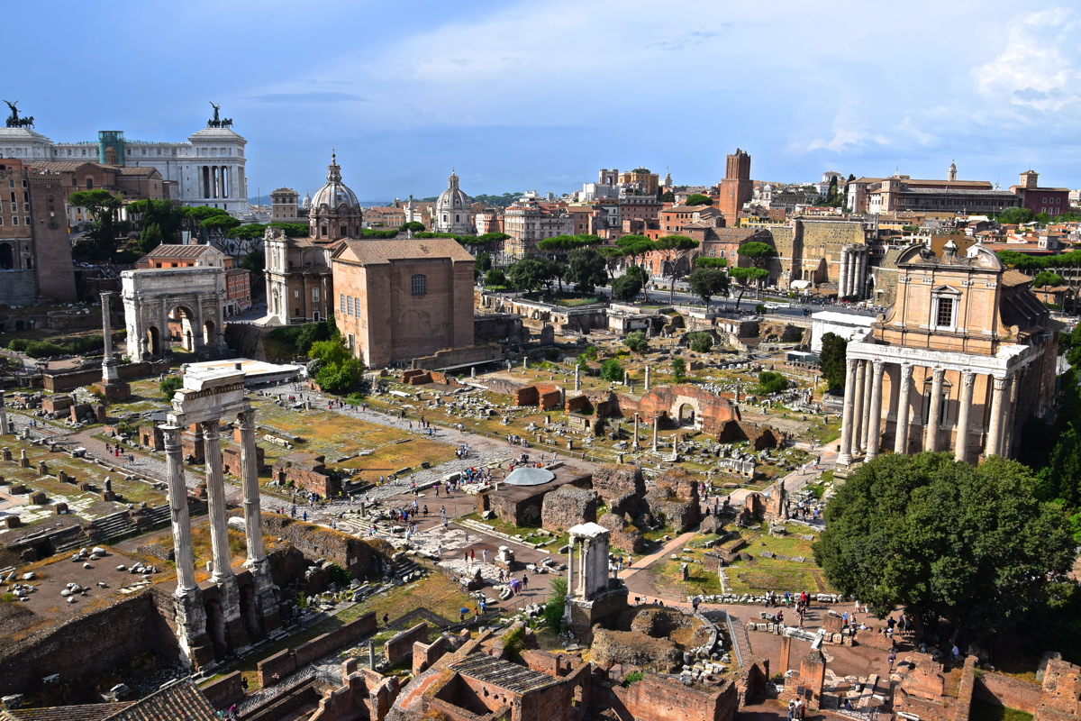 Panorama sur la Rome antique