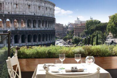 Terrasse du Palazzo Manfredi à Rome
