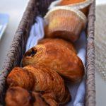 Viennoiseries chaudes au petit déjeuner du Palazzo Manfredi