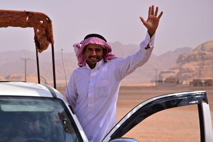 4x4 dans le désert du Wadi Rum en Jordanie