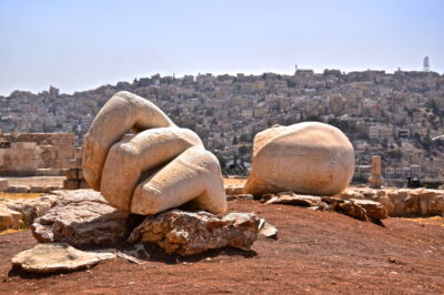 Ruines du colosse d'Hercule à Amman