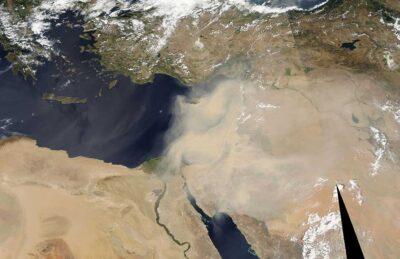 Tempête de sable au Moyen Orient en septembre 2015