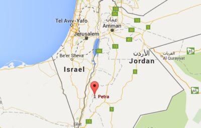 Carte du site de Pétra en Jordanie