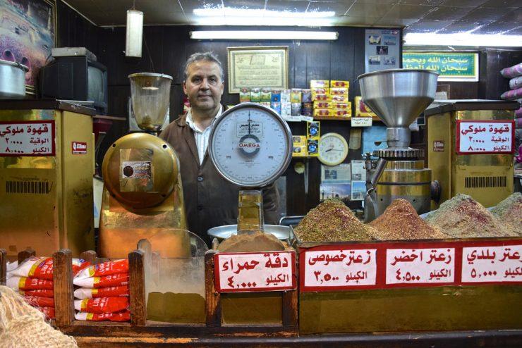 Echoppe de thé et café dans le centre d'Amman