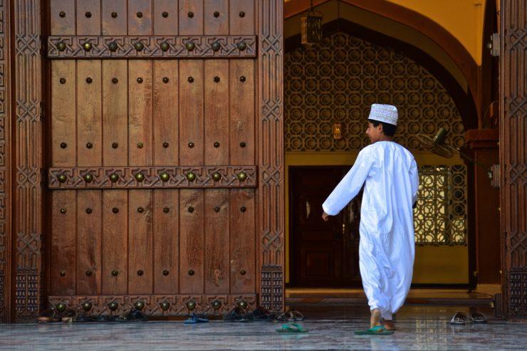 Entrée de la mosquée de Nizwa