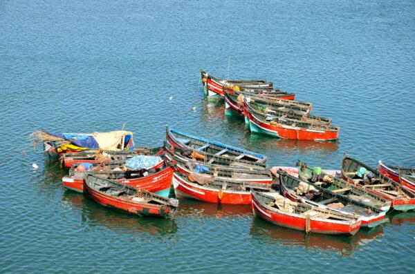 Barques de pêche à El Jadida