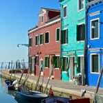 Burano, une île de la lagune de Venise