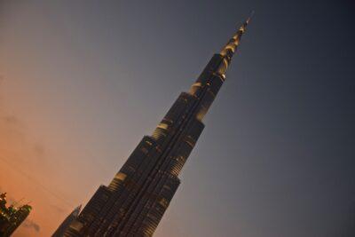 Burj Khalifa au coucher de soleil