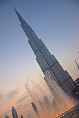 Burj Khalifa en fin de journée