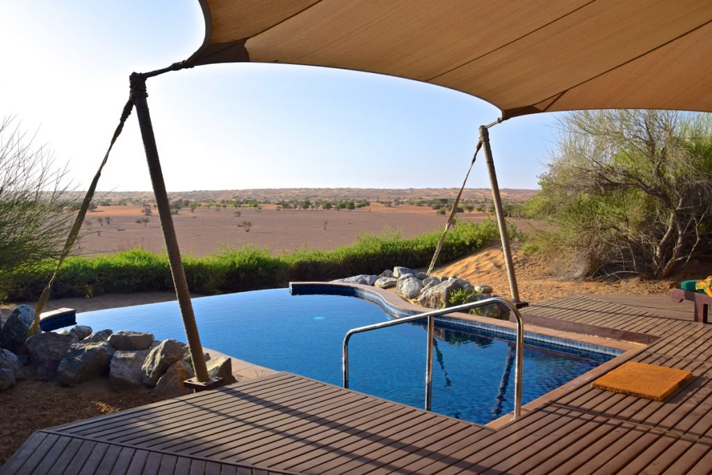 Piscine privée à l'hôtel Al Maha