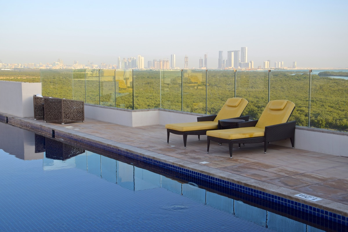 Rooftop pool à Abu Dhabi