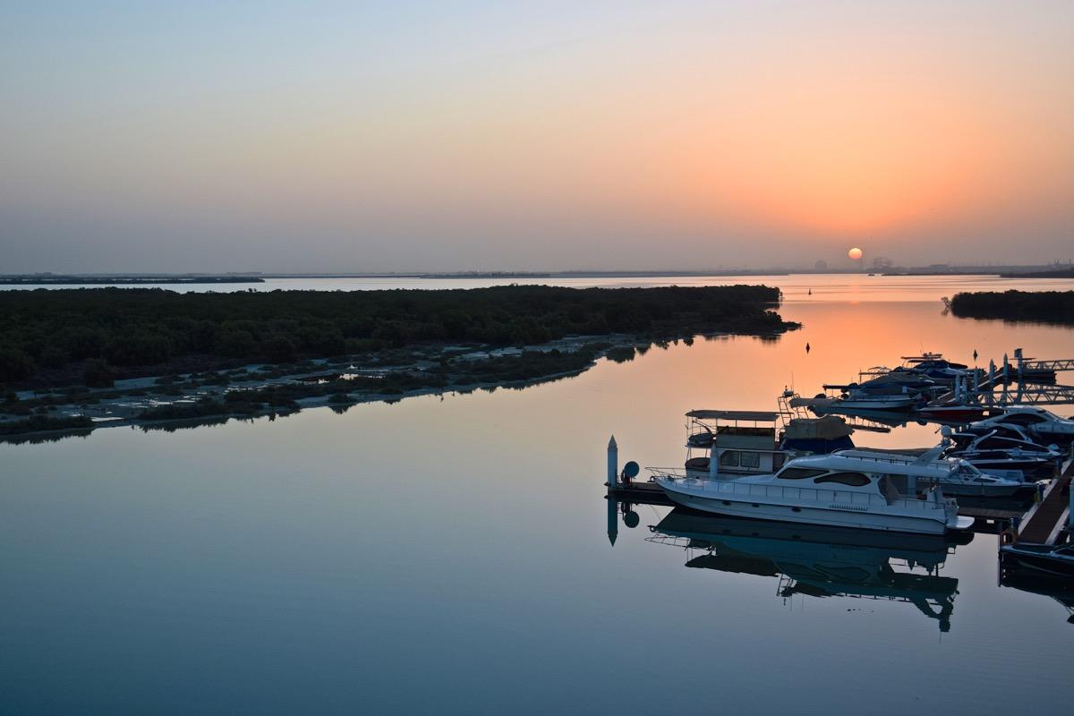 Sunrise à l'Eastern Mangroves Suite à Abou Dhabi