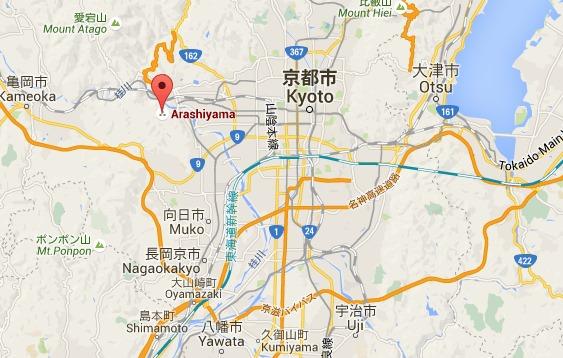 Carte Arashiyama à Kyoto