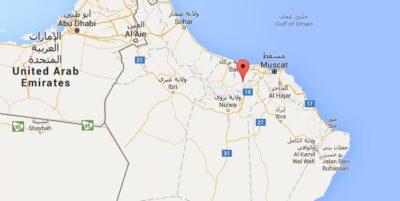 Carte - Nakhal au Sultanat d'Oman