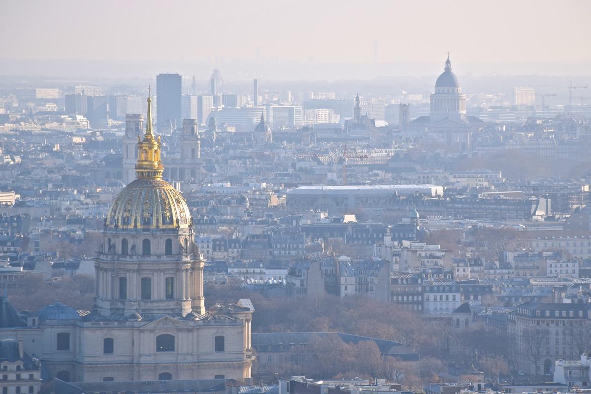 Invalides et Panthéon depuis la Tour Eiffel