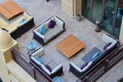 Salon de thé au Mina A'Salam