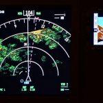 Radar d'un cockpit de Boeing 737
