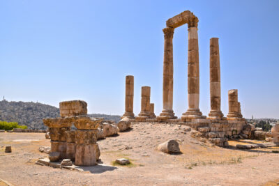 Ruines du temple d'Hercule à Amman
