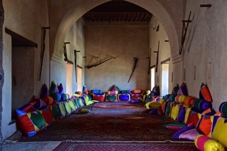 Une salle dans le fort de Nakhal