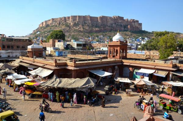 Fort de Jodhpur depuis le Sadar Bazaar