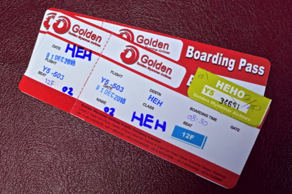 Boarding pass - Myanmar