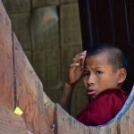 Bonze dans un monastère en Birmanie