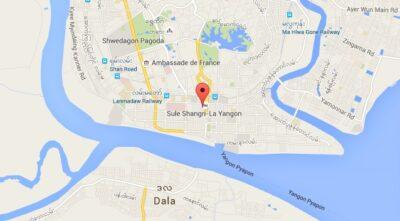 Emplacement géographique du Sule Shangri-La à Yangon