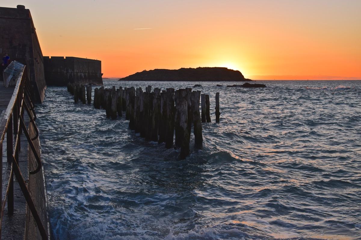 Coucher de soleil à Saint Malo