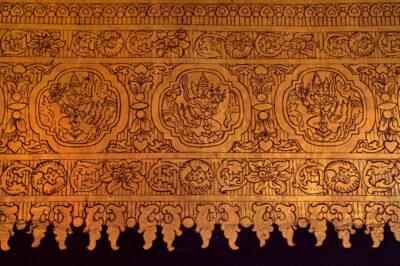 Décor mural du Mahamuni Temple de Mandalay