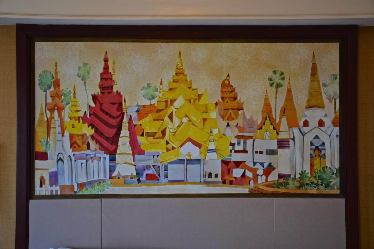 Décoration de la chambre au Sule Shangri-La
