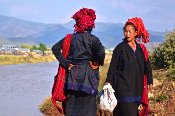 Femmes Pa O en Birmanie