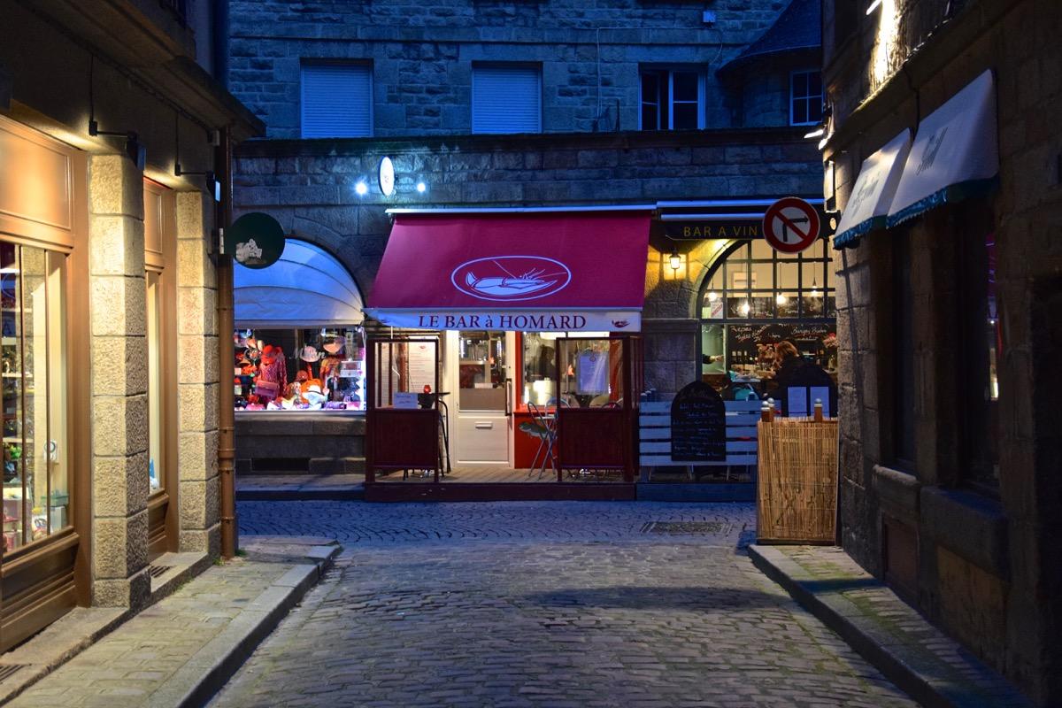 Rue de Saint-Malo Intra-muros en soirée