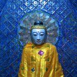 Statue à la pagode Shwedagon