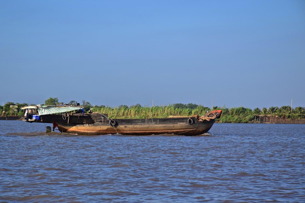Bateau sur le delta du Mékong